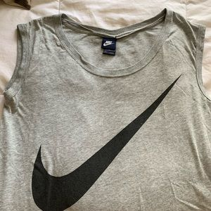 Nike running top, long in back
